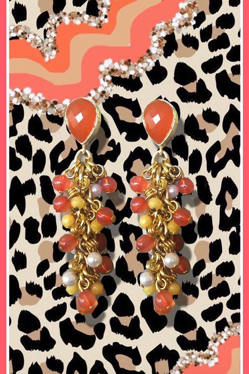 Juicy - Carnelian, Pearls, Yellow