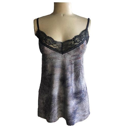 Metallic Knit Cami - Charcoal