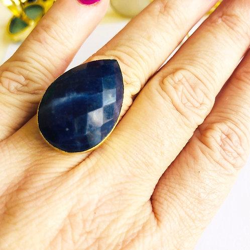 Sodalite Teardrop ( Dark Blue )