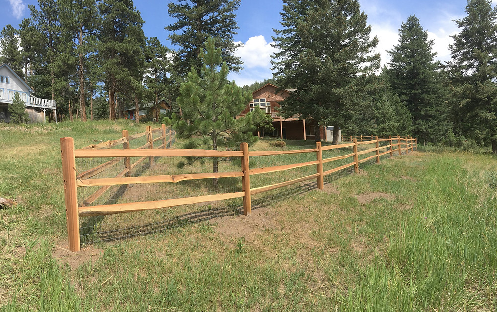 Split rail installed in Evergreen