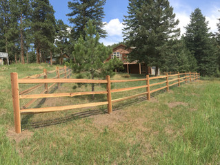 Split rail fencing is perfect for the Mountains of Colorado
