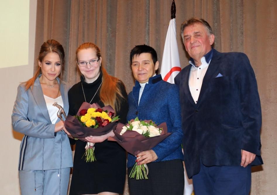 Юлия Барановская, Екатерина Румянцева, Ирина Громова и Владимир Саливон (Фото А. Бондарева)