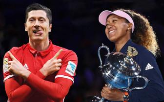 Роберт Левандовский и Наоми Осака - лучшие спортсмены уходящего года