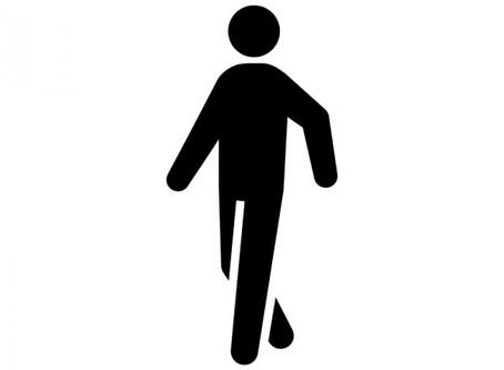 膝の痛みと踵の着き方