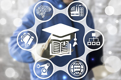 Education Smart Industry 4.0 concept. Wo