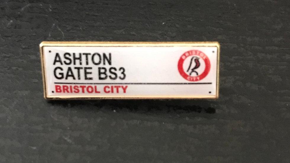 Ashton Gate Road Sign Badge