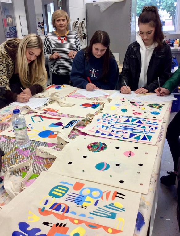 Workshop at Portsmouth University Textile Department