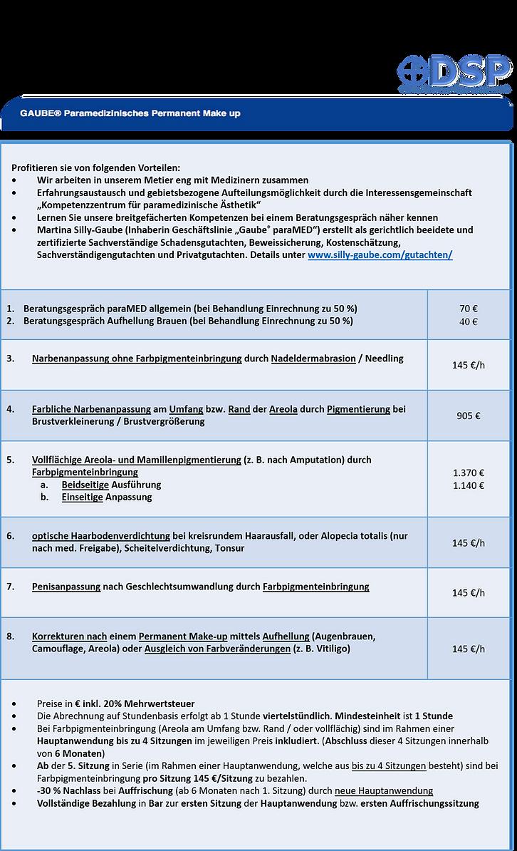 Preisliste paraMED DSP 2020 D-PNG big 30