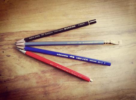 """""""Allzeit bereit"""" – Oder: Dein treuer Freund, der Bleistift."""