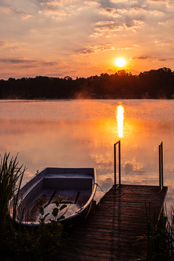 Sonnenaufgang am Klempowsee