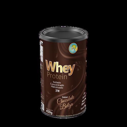 Whey Protein 3W Chocolate Belga 450g