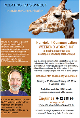 Concious Directions Flyer for Perth Workshop