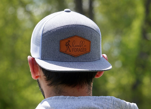 6 Panel Snap-Back Hat with Leather Patch