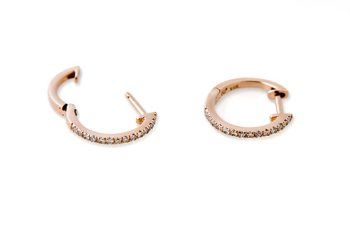 Diamond Mini Hoops Earrings