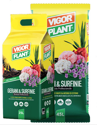 Terriccio Vigor Plant gerani e surfinie 70L € 9,50