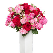 Bouquet rose rosse e rosa € 60,00