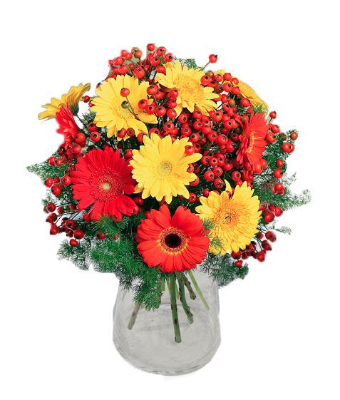 Bouquet gerbere giallo rosse arancioni € 50,00