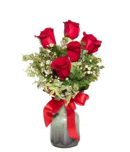 Mazzo 5 rose rosse € 50,00