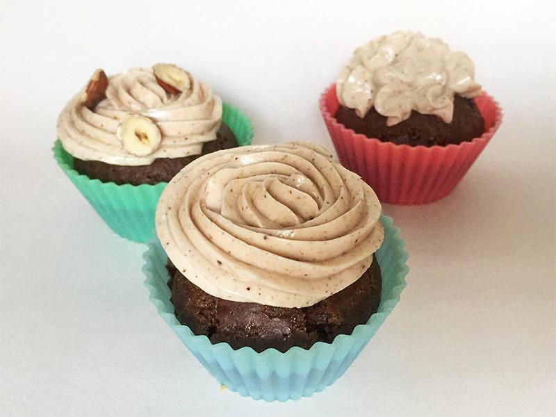 3 Cupcakes recette praliné vegan
