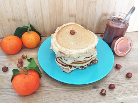 Recette : pancakes fourrés à la pâte à tartiner