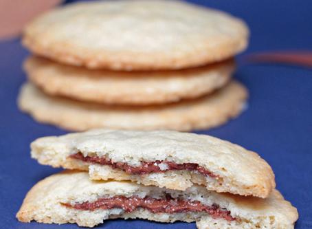 Cookies fourrés à la pâte à tartiner