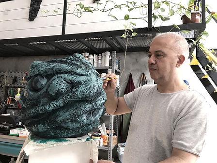 Metin Unsal, artist studio