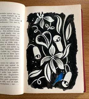 Bluebird and flowers
