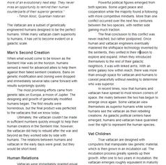 Vattacan Species Description