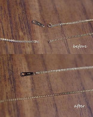 18金ネックレス|ネックレス修理|ネックレス切れ|チェーン切れ|ジュエリー修理|工房礫|東京|世田谷区