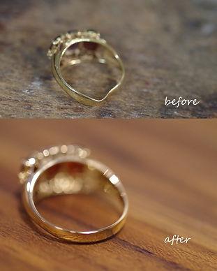 リング変形|リング修理|指輪曲がった|補強|世田谷区|東京|工房礫
