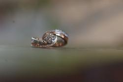 プラチナ/K18ピンクゴールドダイヤリング