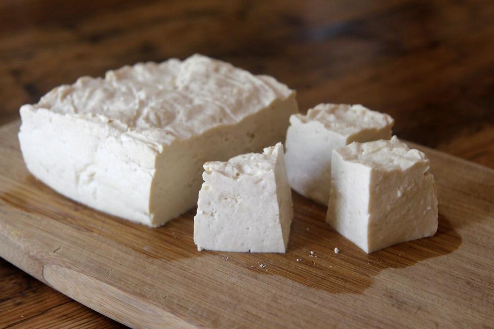 Homemade tofu block