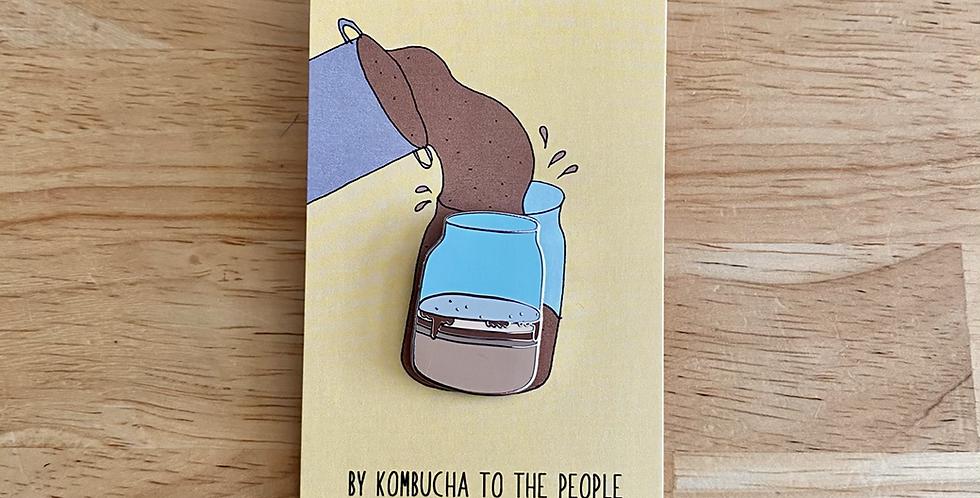Kombucha Enamel Pin