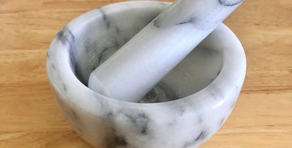 Marble Mortar & Pestle