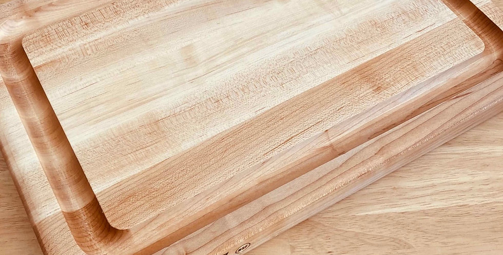 Maple Wood Cutting Board with Grooves