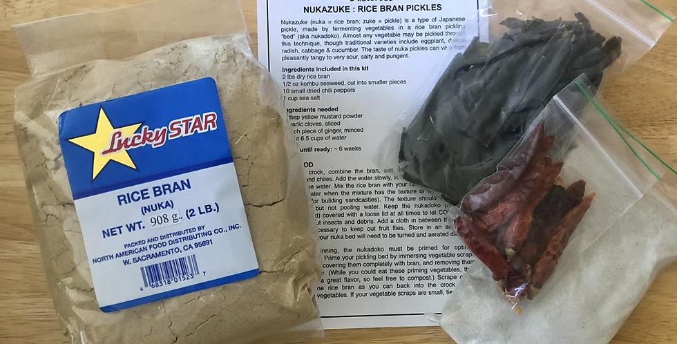 Nuka Rice Bran Pickle Kit