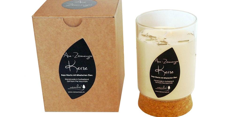 Duftkerze Arve- Zitronengras