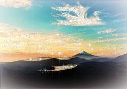 鳳凰雲が舞う富士山