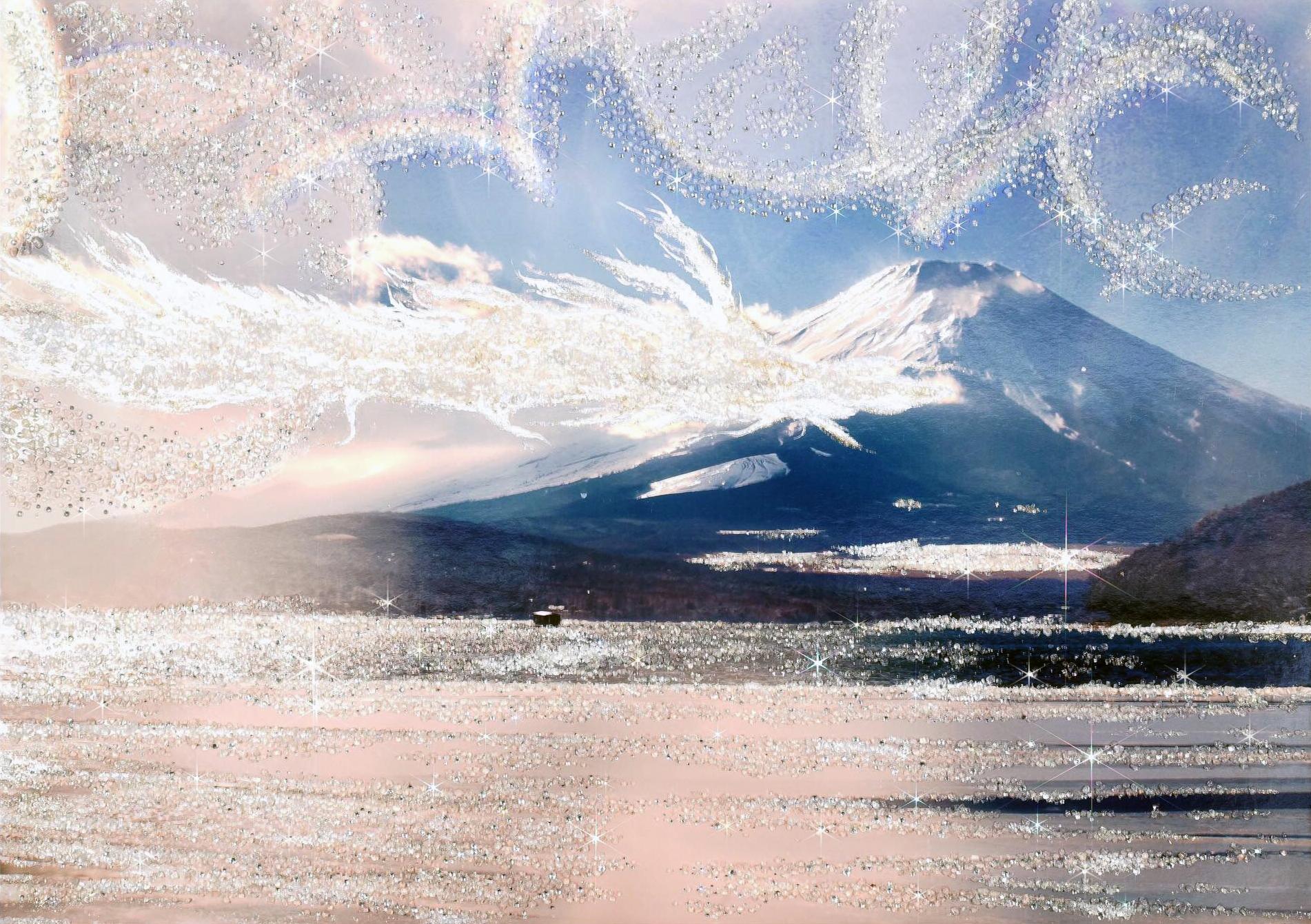 龍神雲が舞う富士山