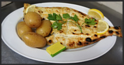Whole Plaice on the Bone Grilled