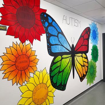 Autism Butterfly Mural