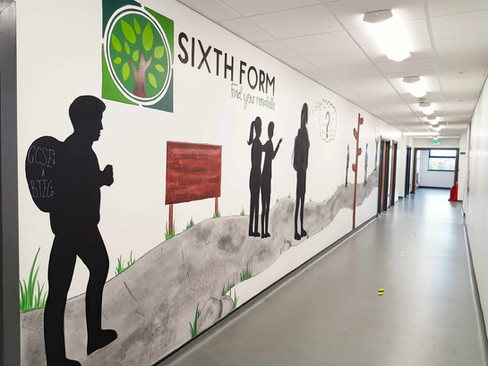 Sixth Form Path, Reworked Mural