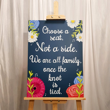 Choose a seat sign