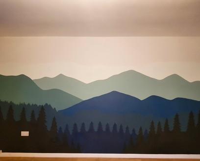 Living Room Mountain Mural