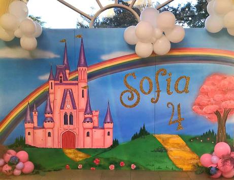 Fourth Birthday Party Backdrop
