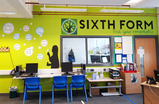Sixth Form Work Room Title & Mural