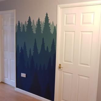 Hallway Tree Mural