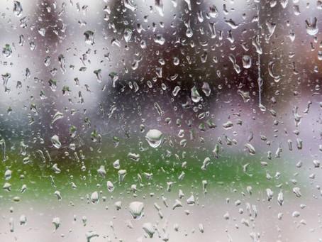 La pluie contre la vitre