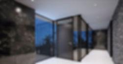 Drzwi aluminiowe, zabudowa szklana