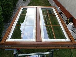 skrzydło okna drewnianego poddane renowacji vglass.pl